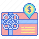 card, gift, store icon