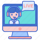 chat, live, store