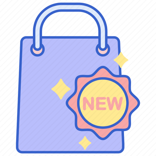 arrivals, new, store, web icon