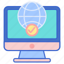 online, store, web icon