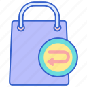 return, store, web icon