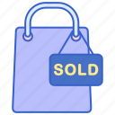 sold, store, web icon