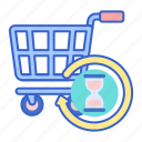 history, shopping, store icon
