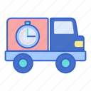 shipping, standard, store icon