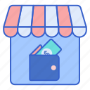 credit, store, web icon