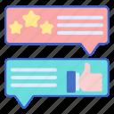 store, testimonials, web icon