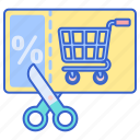 store, voucher, web icon