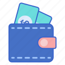 store, wallet, web icon