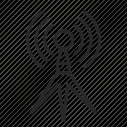antenna, connection, internet, radio, television, wifi icon