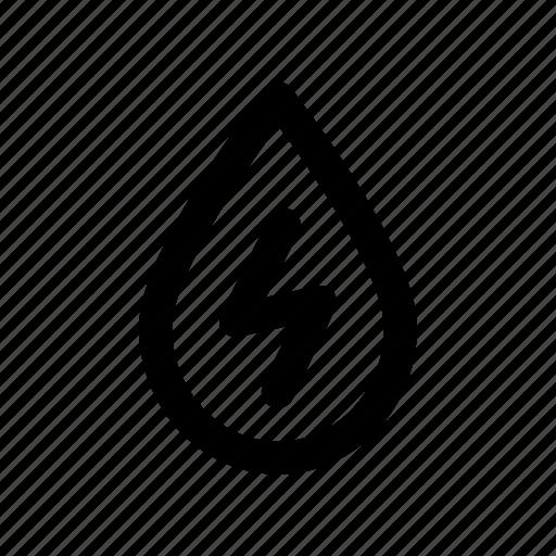 current, drop, energy, liquid, power icon