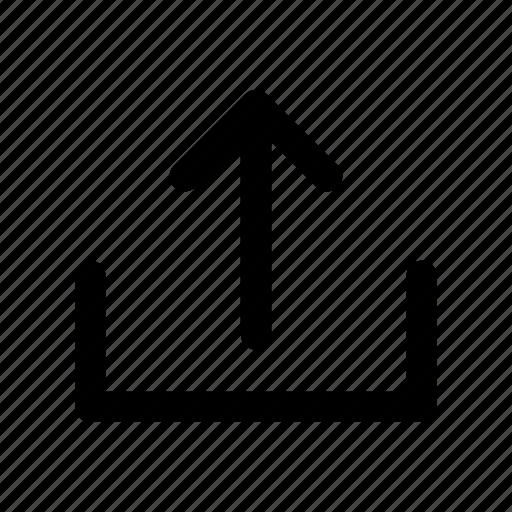 arrow, server, share, sign, upload icon