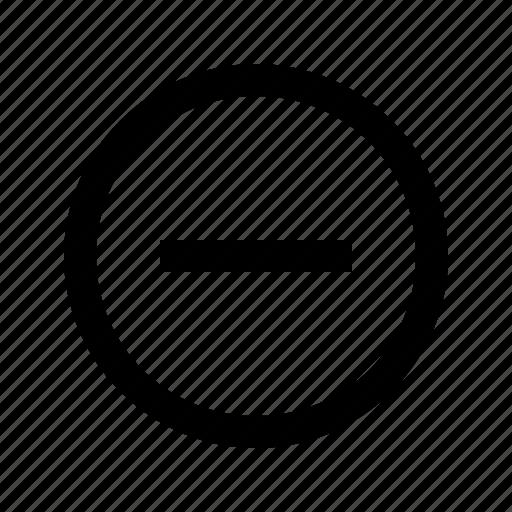 cancel, close, delete, minimize, minus, remove, zoom out icon