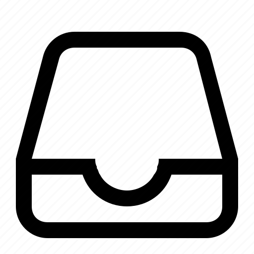 box, document holder, inbox, mail, mailbox icon