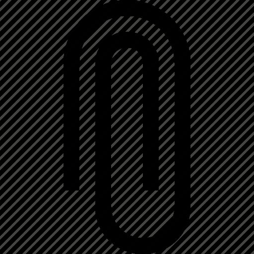 attach, attachment, clip, office, paperclip icon