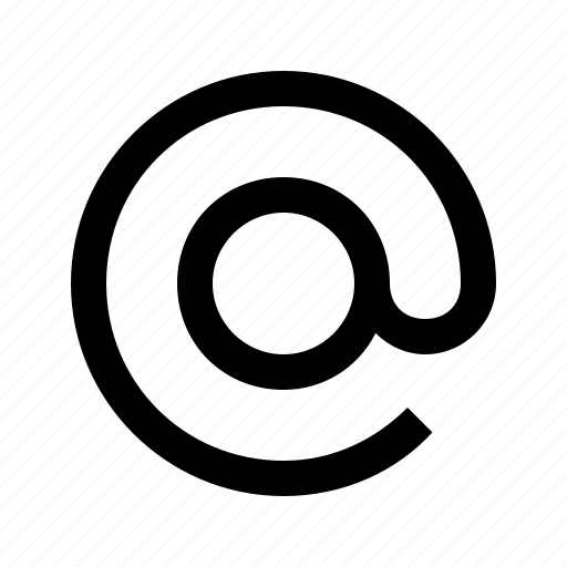 arroba, at, atmark, chat, communication, email, mail icon