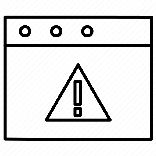 caution, error, exclimination icon