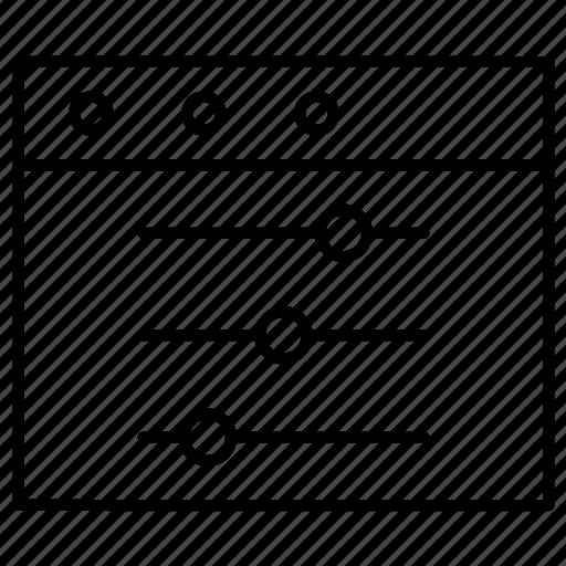equlizer, setting, website icon