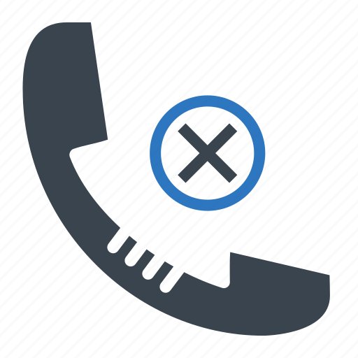 communication, device, mobile, phone, phone reject, telephone icon