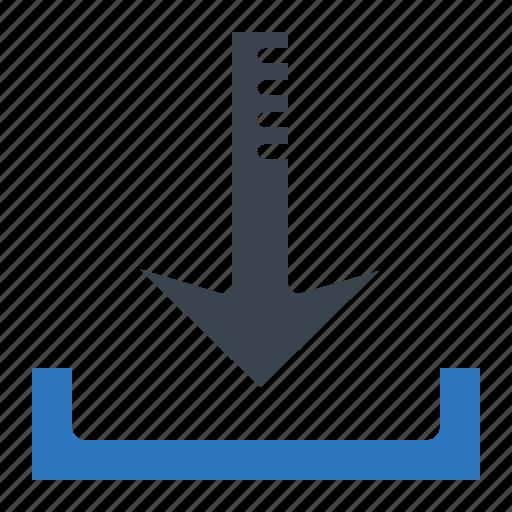 arrow, download, internet, pointer, seo, web icon