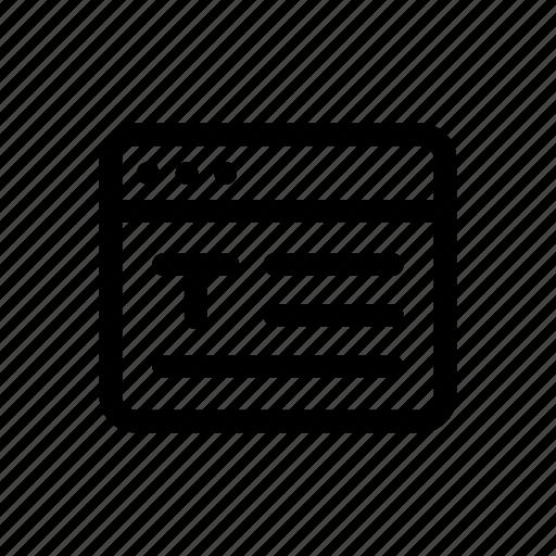 domain, internet, text, web, webpage, website, window icon