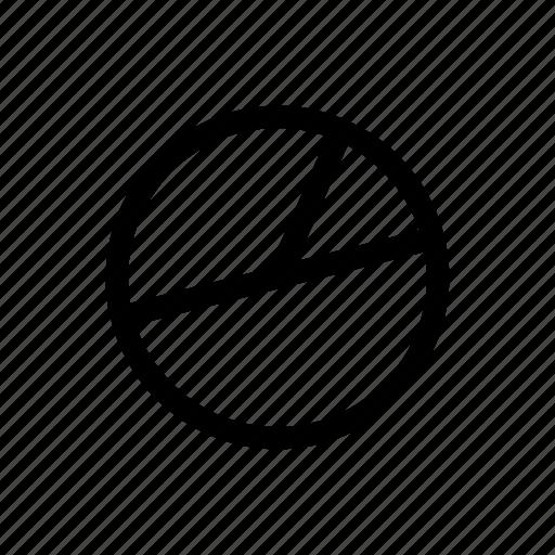 chart, circle, graph, math, pie, statistics, workflow icon