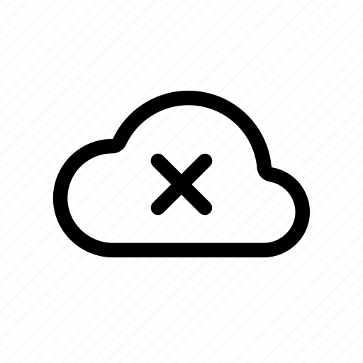 cloud, connect, disconnect, download, unavailable, upload icon