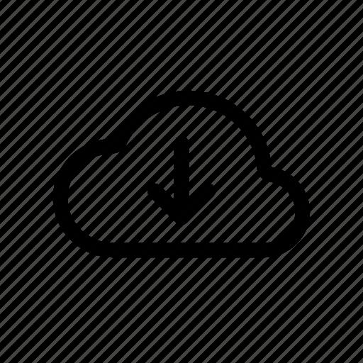 cloud, connect, download, internet, web icon