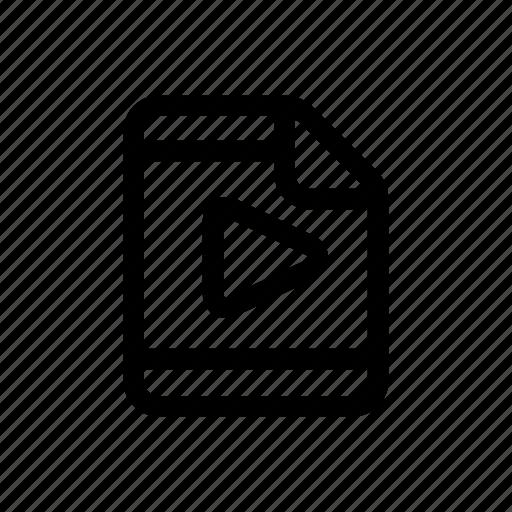 document, file, film, movie, video icon
