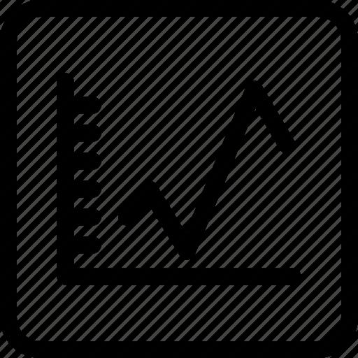 analysis, chart, curve, data, statistics icon