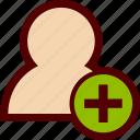 add, avatar, create, human, new, person, user