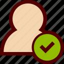 avatar, check, done, human, ok, tick, user