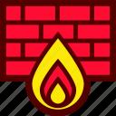 bricks, fire, firewall, internet, security, wall
