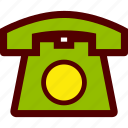 call, communication, old, telephone icon
