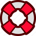 life, lifebuoy, lifeguard, safety, saver icon