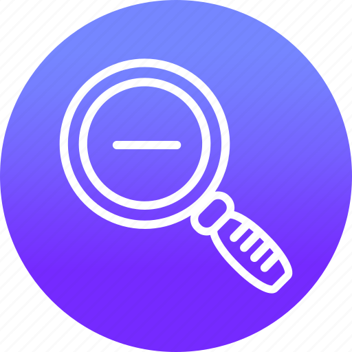 find, look, magnifier, search, view, zoom out icon