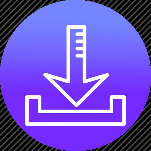 arrow, arrows, direction, down, download, web icon