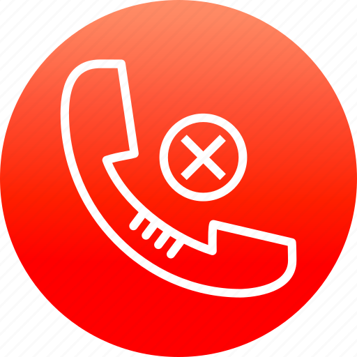 call reject, communication, device, mobile, network, phone icon