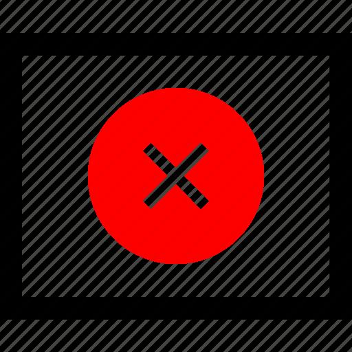 delete, stop, wireframe icon