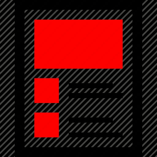 design, mockup, wireframe icon