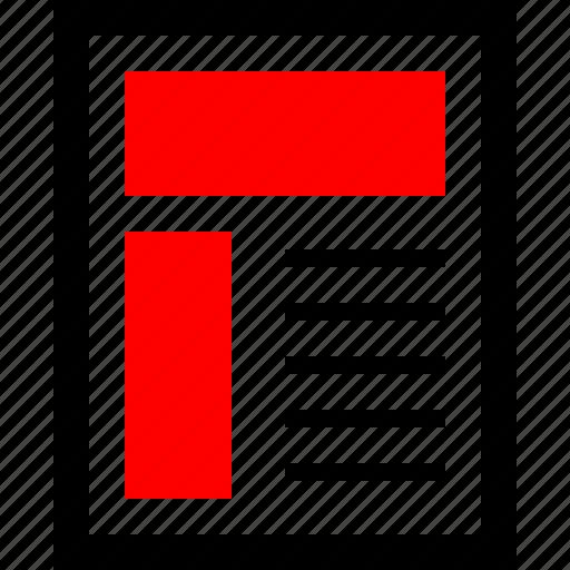 graphic, news, newsletter icon