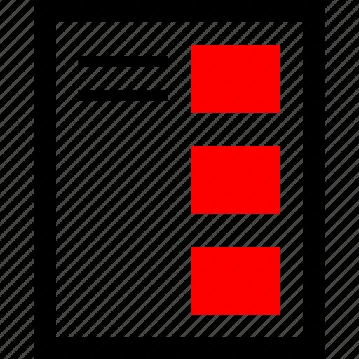 design, mockup, news icon