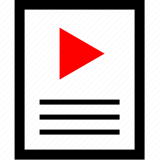 news, play, video, youtube icon