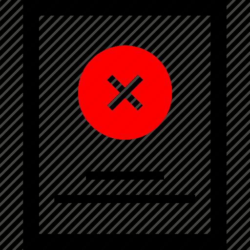 delete, mockup, news, stop icon