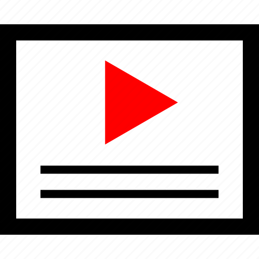 play, player, user, youtube icon