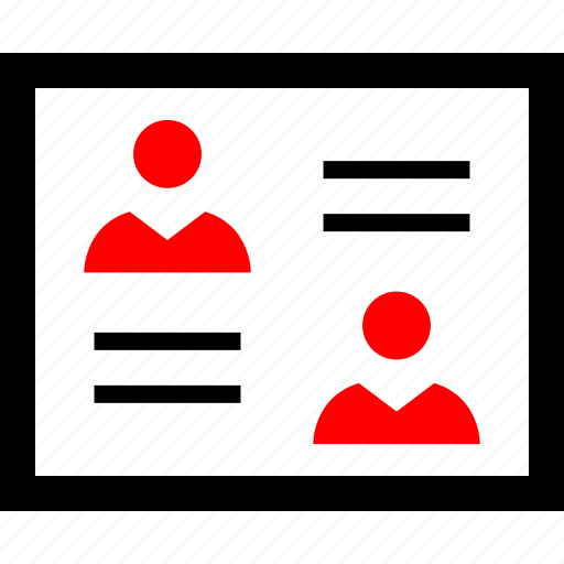 design, mockup, two, users icon