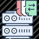 connection, database, file, hosting, storage, transfer, webserver icon