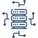 cloud, computing, connection, database, netowrk, server, web icon