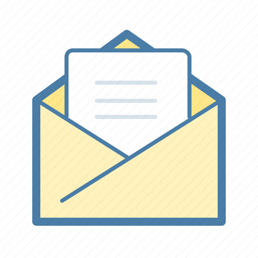 contact us, email, envelope, letter, mail, reply, subscribe icon