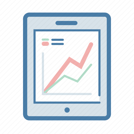 analytics, graph, ipad, monitoring, report, statistics, tabler icon