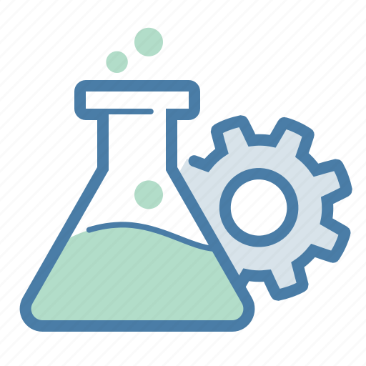 check, experiment, gear, qa, research, test, testing icon